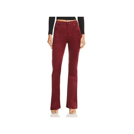 Blank NYC Womens High-Rise Flare Corduroy Pants