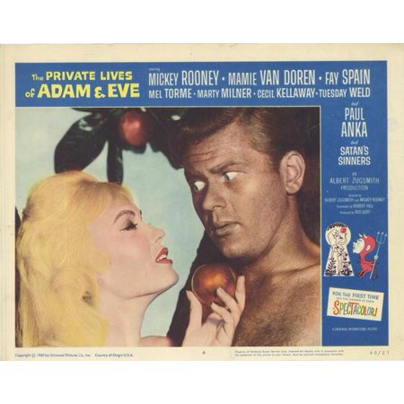 The Private Lives of Adam & Eve POSTER Movie F Mini Promo (Adam And Eve Halloween Costume Couples Costume)