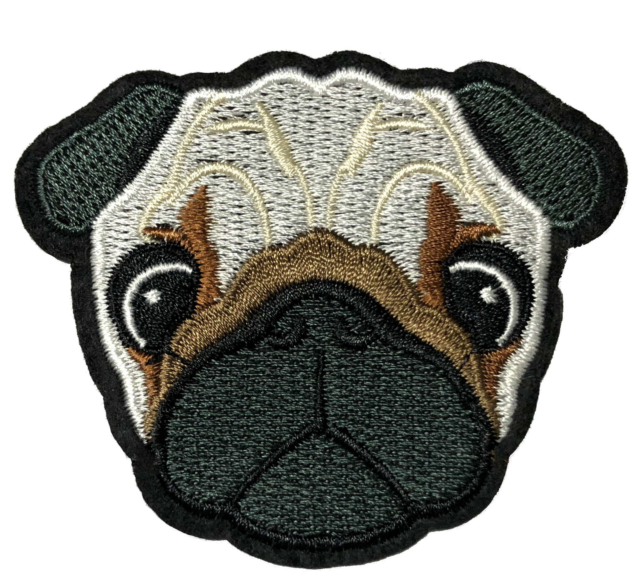 Pug dog patch Pug patch dog Embroidery Patch Iron on Applique Patch Embroideried Patch DIY supply