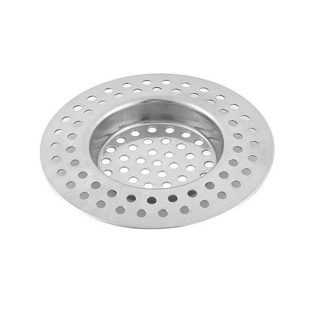 Home Kitchen Bathroom Metal Sink Drain Strainer Mesh Filter Basket Sliver - Emu Metal Mesh