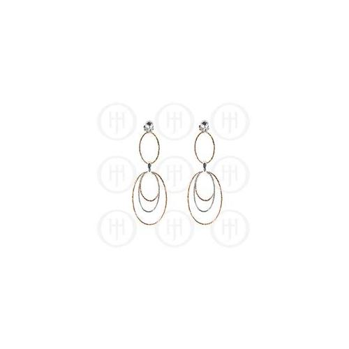 Doma Jewellery MAS07622 Sterling Silver -Fancy Italian Rhodium Plated Rose Colour Earrings -ER