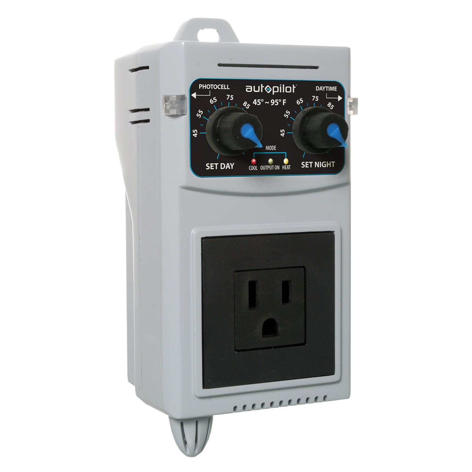 AutoPilot Analog 24 Hr Day & Night Cooling/Heating Thermostat Controller | APCET