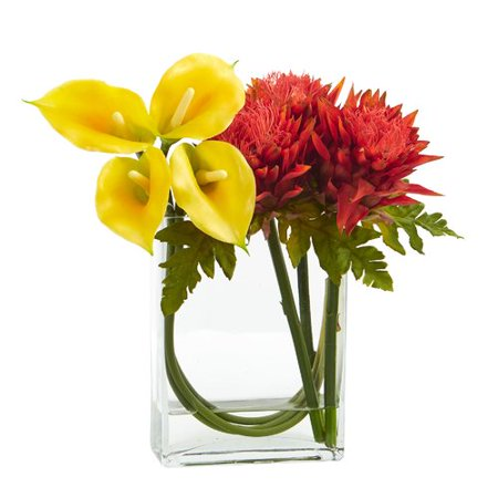 Latitude Run Calla Lily And Artichoke Artificial Floral Arrangement