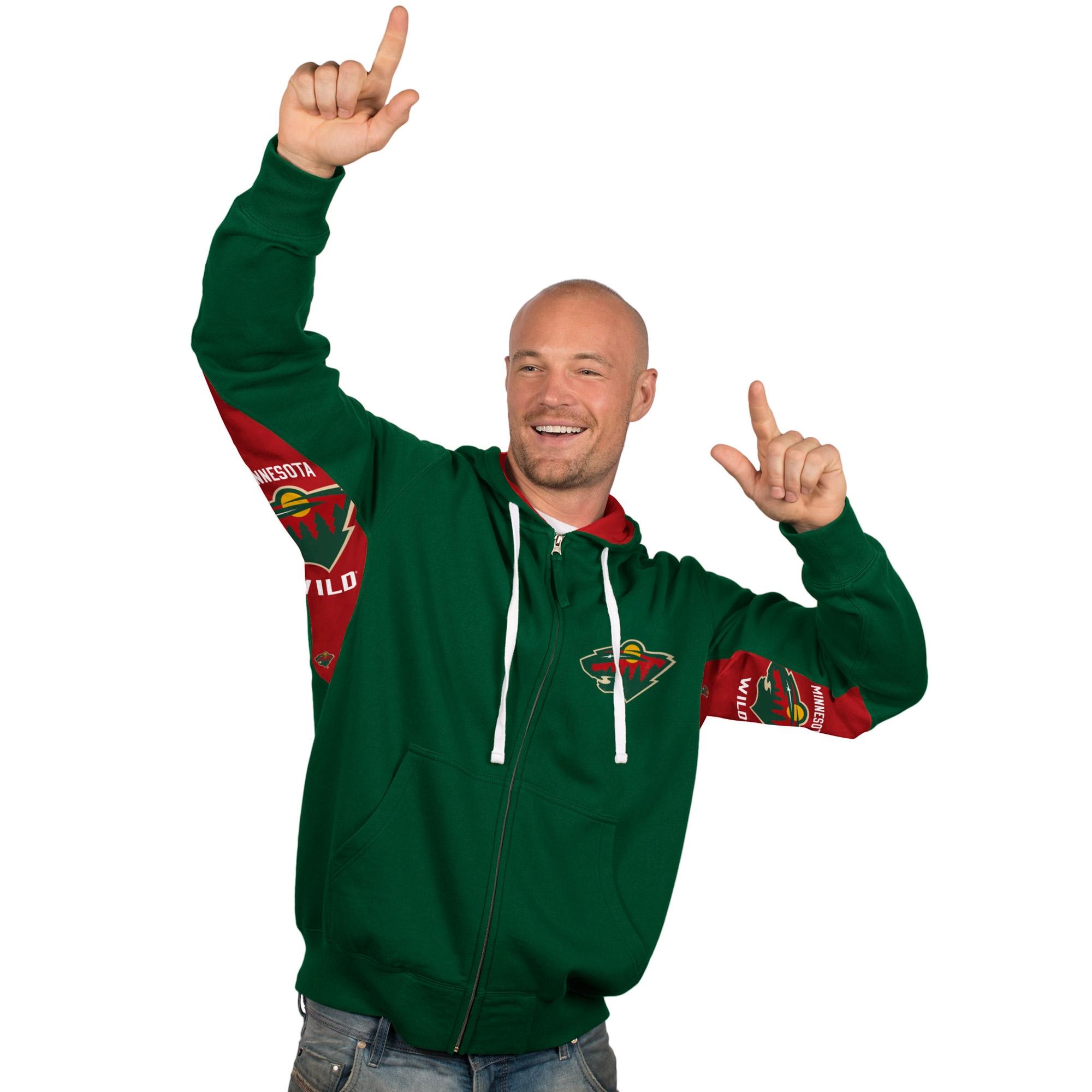 Minnesota Wild Hands High Full Zip Hoodie - Green