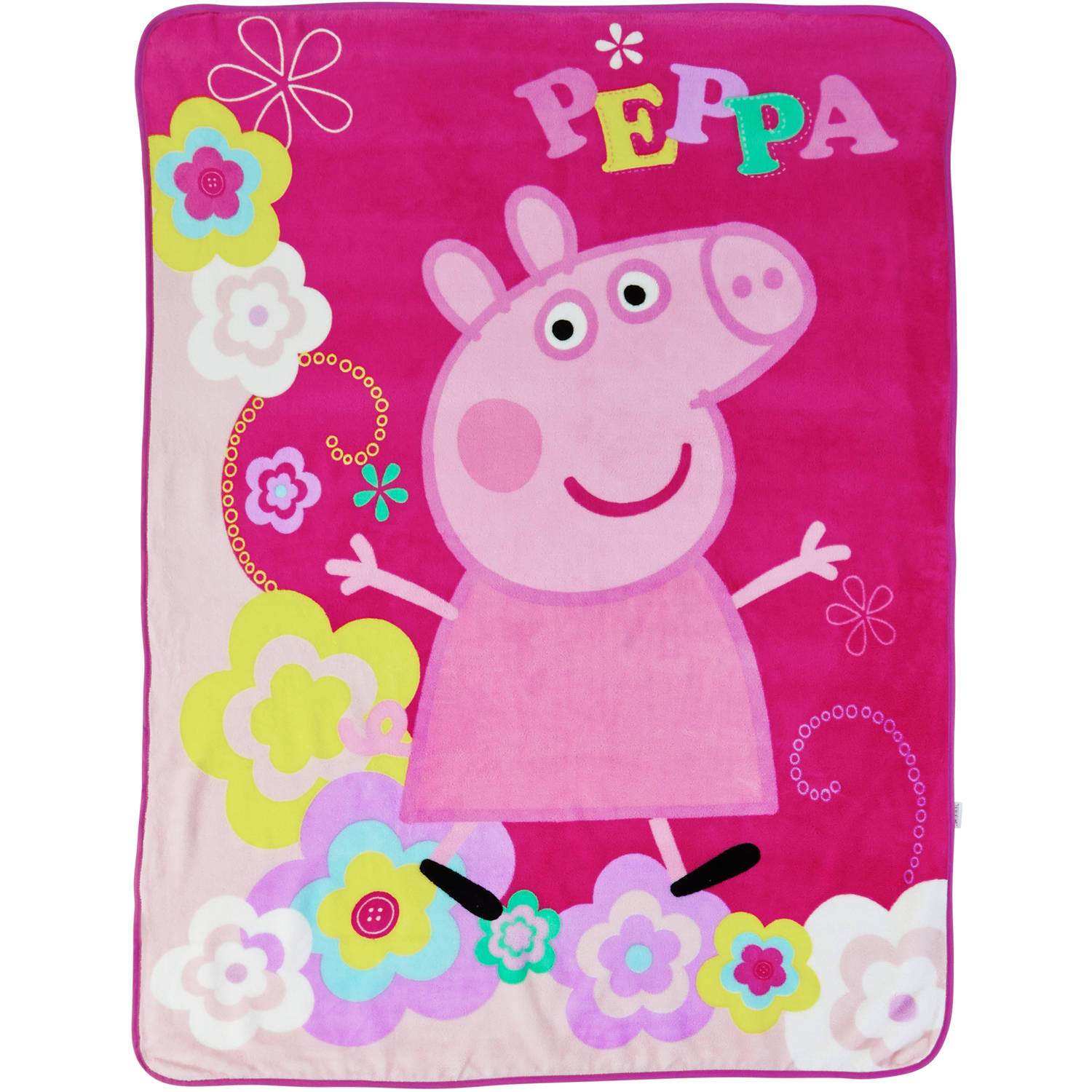 "Peppa Pig Peppas Picnic 46"" x 60"" Kids Plush Throw"