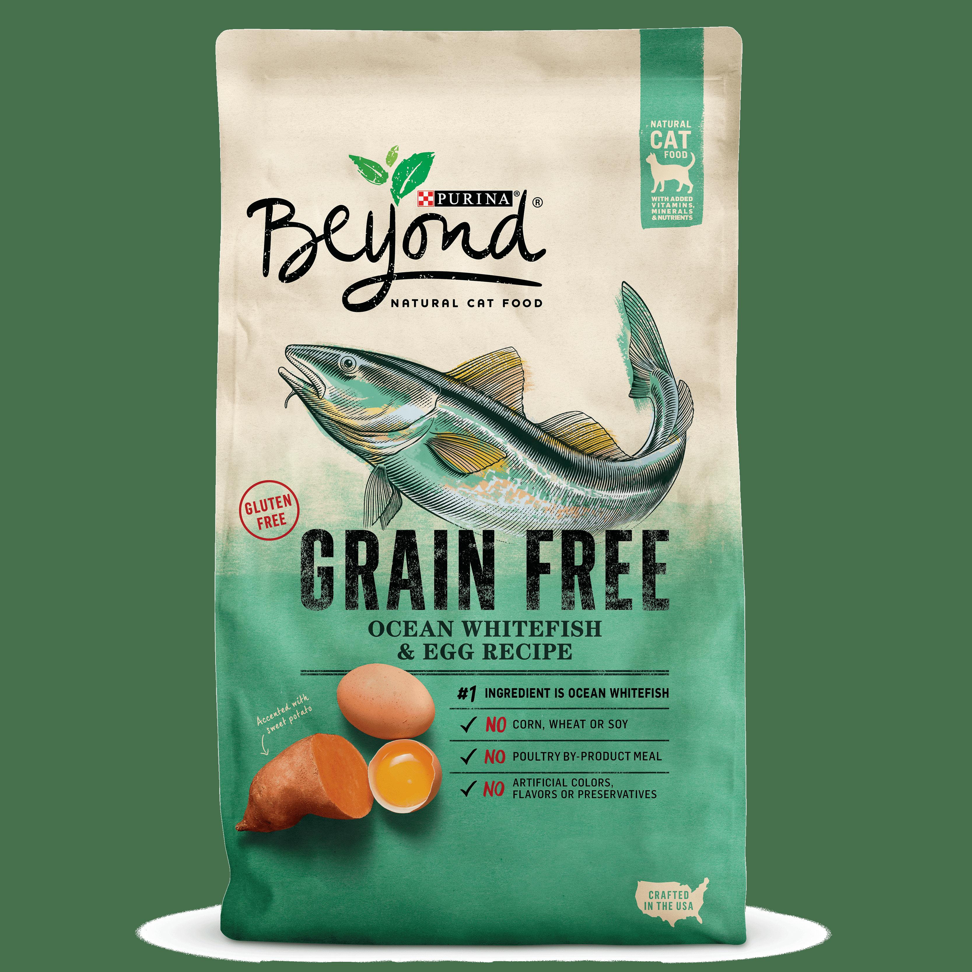Purina Beyond Grain Free Ocean Whitefish & Egg Recipe Adult Dry Cat Food, 5 Lb