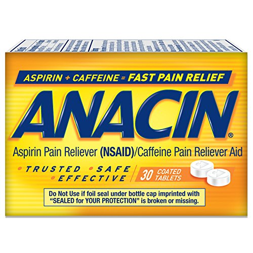 2 Pack Anacin Fast Pain Relief Pain Reducer Aspirin 30 Tablets Each