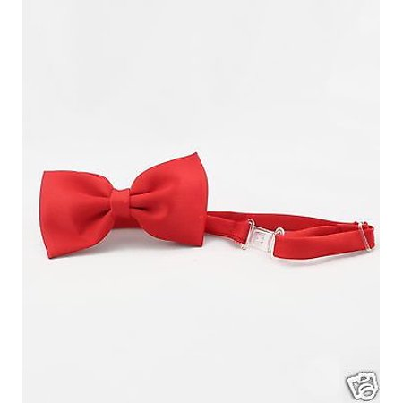 New Satin Red Bow Tie Baby Toddler Kid Teen Boys Wedding Formal Party S-4T 5-20](Bat Bow Tie)
