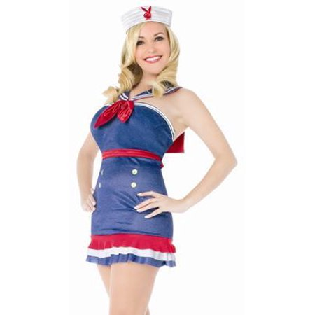 Sexy Halloween Costumes Playboy Adult Womens Bridget Classic Sailor Dress Party Theme Costume