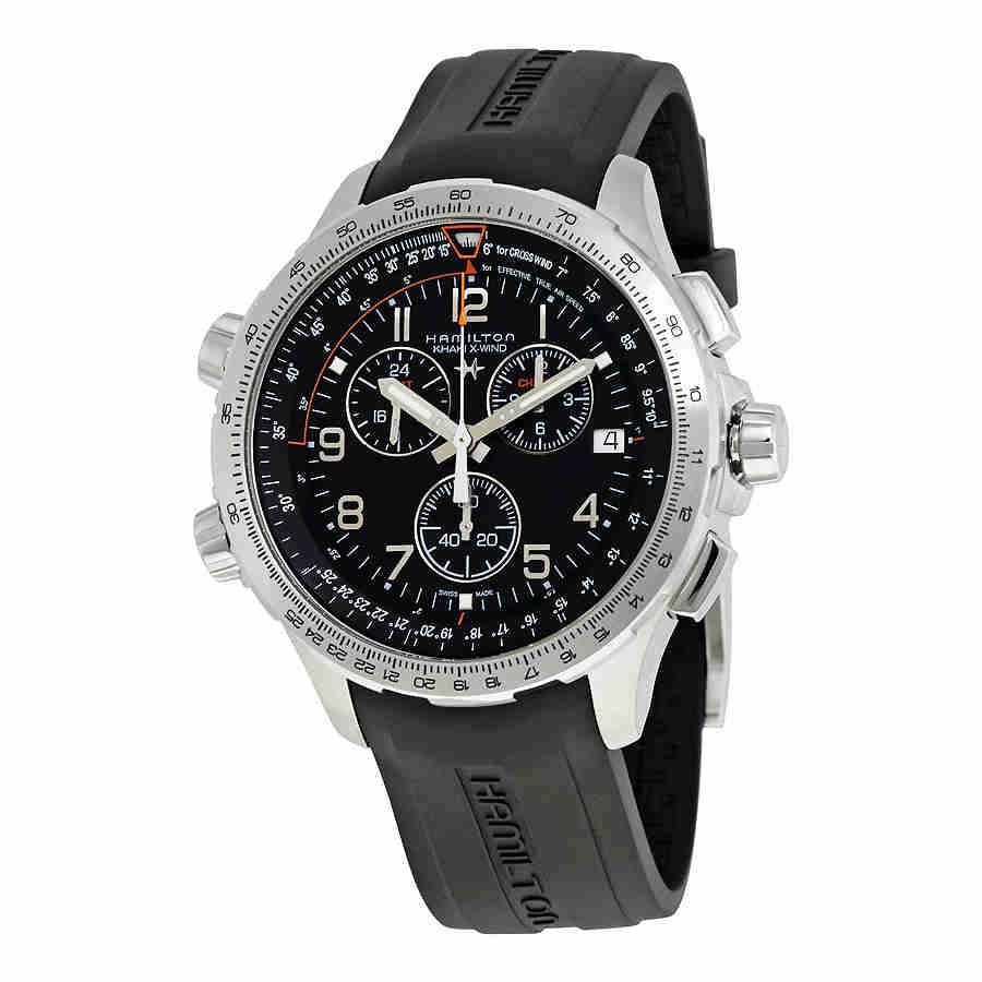 Hamilton X-Wind GMT Chronograph Black Dial MensWatch H779...