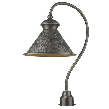Pickwick 1-Light Oil Rubbed Bronze Dark Sky Outdoor Post Lamp (Outdoor Lamp Post Oil Rubbed)