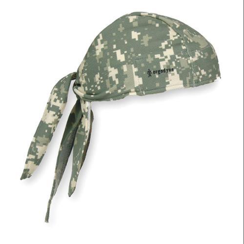 ERGODYNE Cooling Hat,  Terrycloth,  Green,  Universal 12478