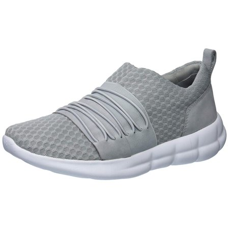 Under Armour Womens Slouchy Low Top Slip On Fashion Sneakers, Grey, Size 8.0
