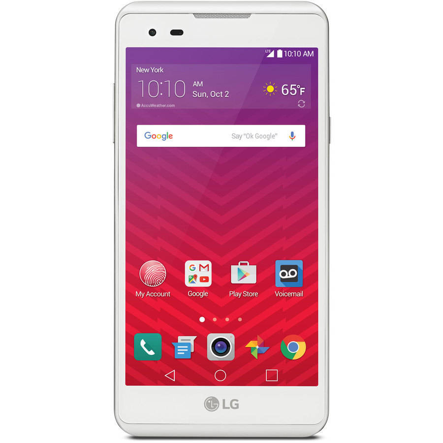 Virgin Mobile LG Tribute HD 16GB Prepaid Smartphone, White