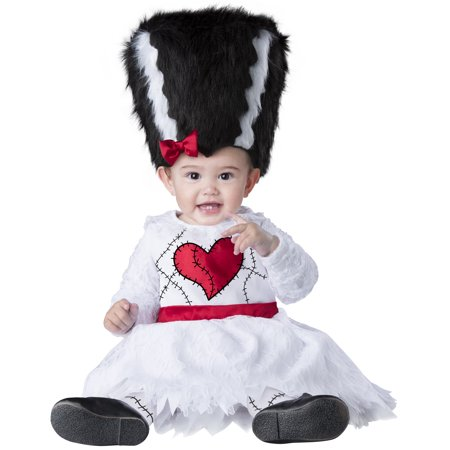 Mini Monster Bride Girls Infant Mrs Frankenstein Halloween Costume](Frankenstein's Bride Halloween)