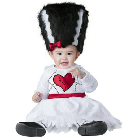 Mini Monster Bride Girls Infant Mrs Frankenstein Halloween Costume - Frankenstein Halloween Costume Baby