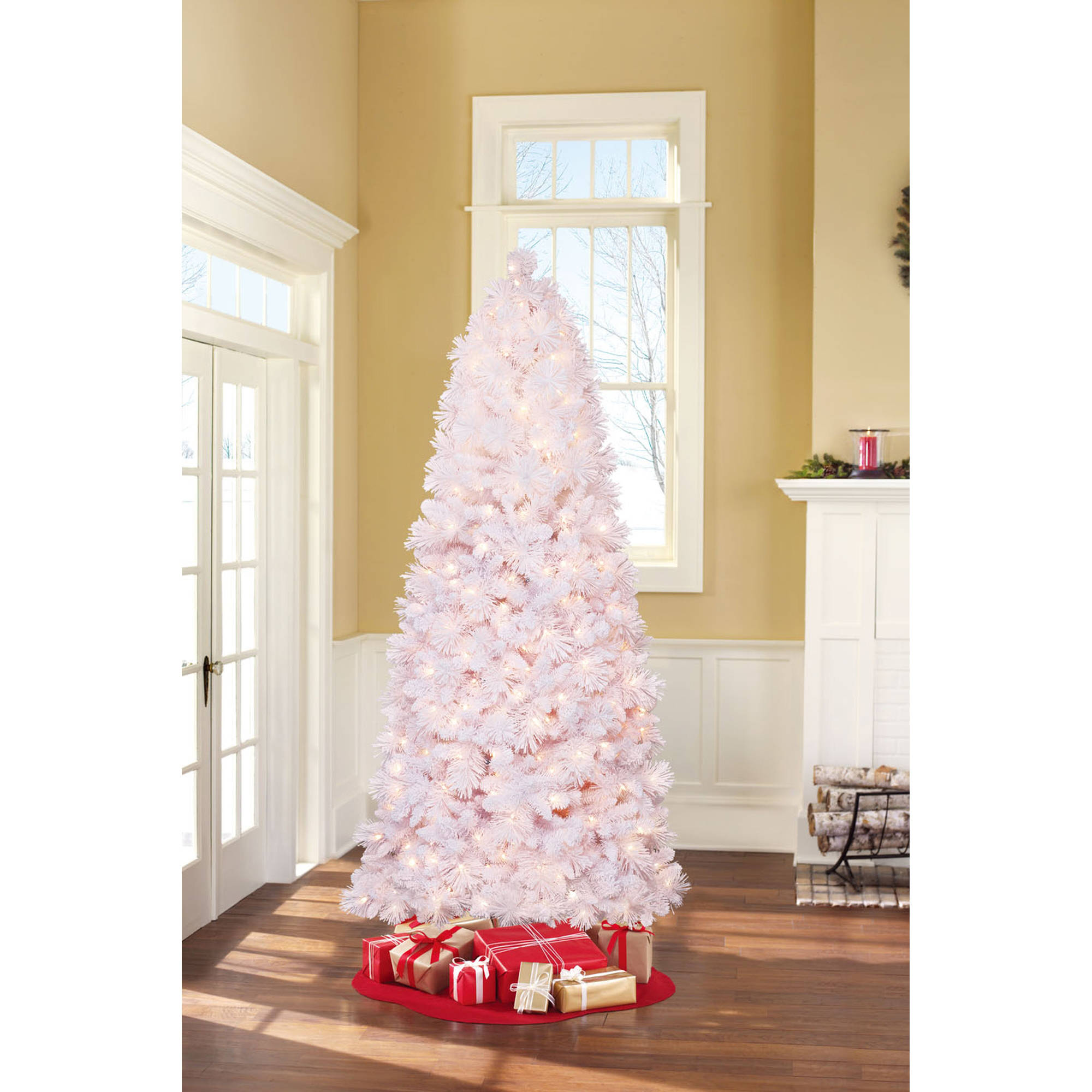 holiday time pre lit 75 lenox pine artificial christmas tree clear lights walmartcom - Pre Decorated Christmas Trees For Sale