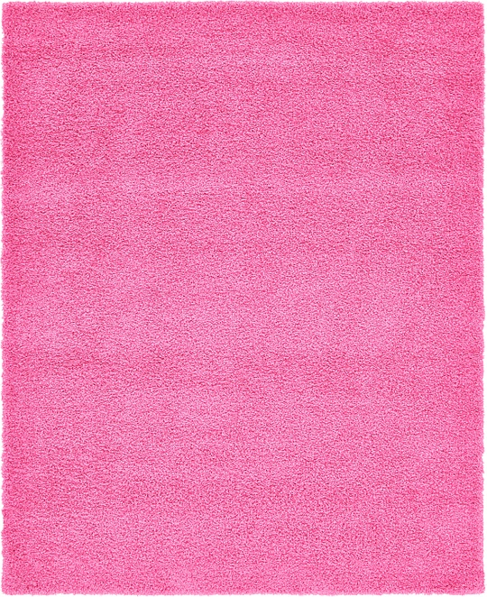 Unique Loom Basic Shag Taffy Pink 8u0027 X 10u0027 Area Rug
