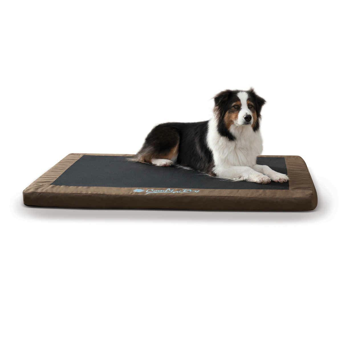 """K&h Pet Products Comfy N' Dry Indoor-outdoor Pet Bed Large Chocolate 36"""" X 48"""" X 2.5"""" - image 1 of 1"""