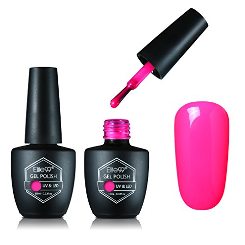 Elite99 UV LED Soak off Nail Gel Polish Long Lasting Shiny Color Gel Manicure Pedicure Nail Polish Nail Varnish 10ml Make You Blink Pink