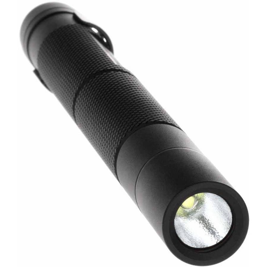 AAA batt BAYCO MT-200 Aluminum non-recharge Mini-TAC Flashlight w// 2 - Black