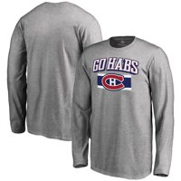 Montreal Canadiens Youth Hometown Collection Go Habs Long Sleeve T-Shirt - Ash