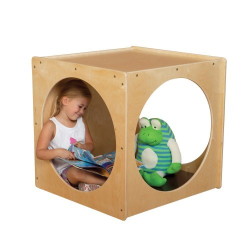 Wood Designs Imagination Cube with Brown Cushion