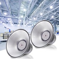 DELight LED High Bay Light 2 Pcak 150W 16000lm 6000K-6500K with Heat Sink Factory Industrial Lighting Fixtures