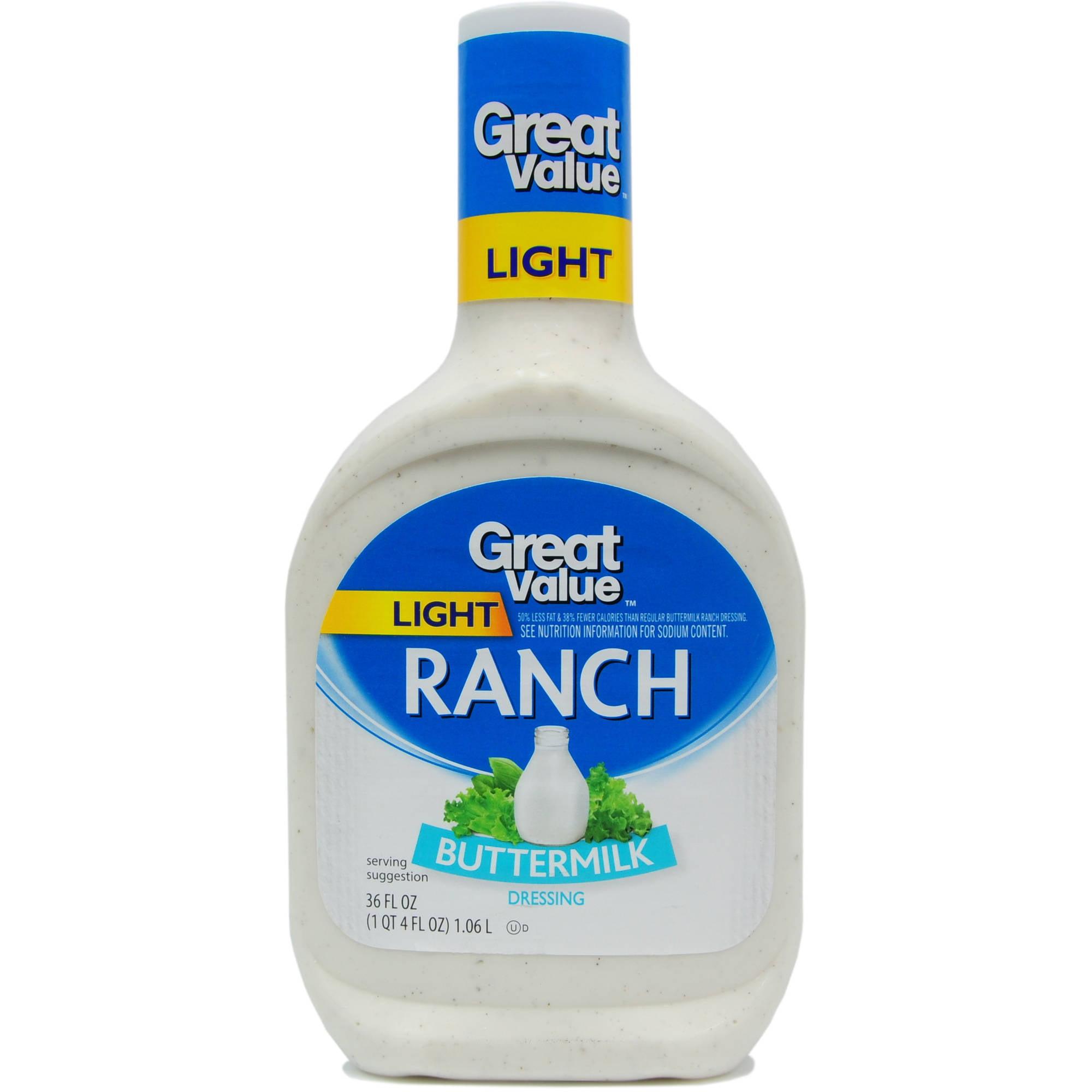 Great Value: Light Buttermilk Ranch Dressing, 36 Oz