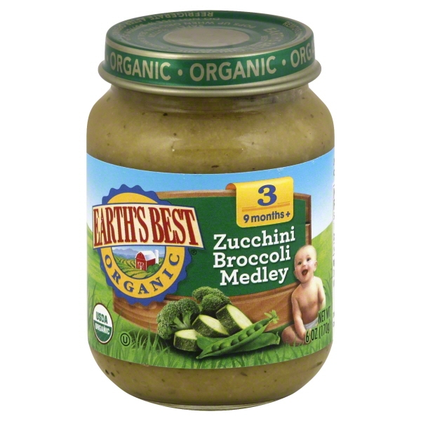 Hain Celestial Group Earths Best Organic Zucchini Broccoli Medley, 6 oz