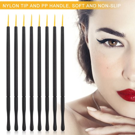 TOPINCN Eyeliner Pencil, Eye Cosmetic,100pcs Disposable Eyeliner Brush Hard Head Eyeliner Liquid Brush Eye Shadow Brush Makeup Tool