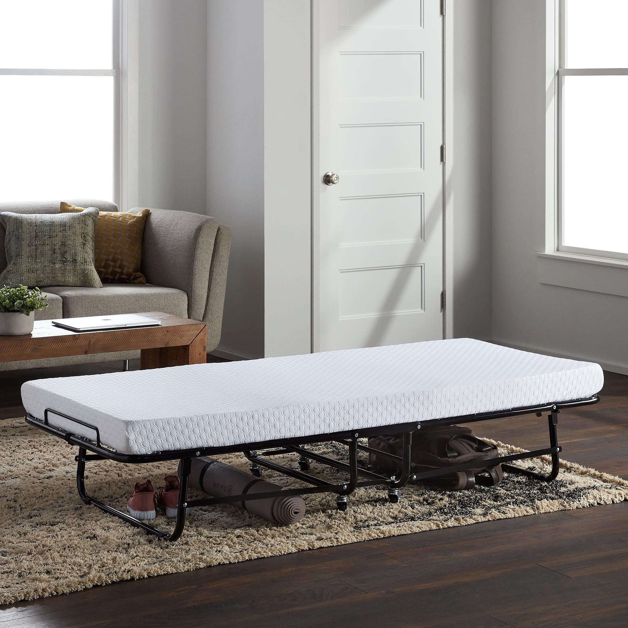 Picture of: Lucid Rollaway Folding Guest Bed With Memory Foam Mattress Cot Walmart Com Walmart Com