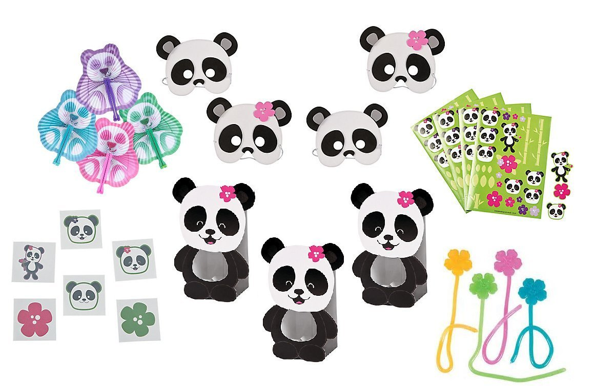 Bamboo Panda Party Favor Set For 12