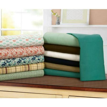 Mainstays 200 Thread Count Standard Pillowcase - Brown Stone