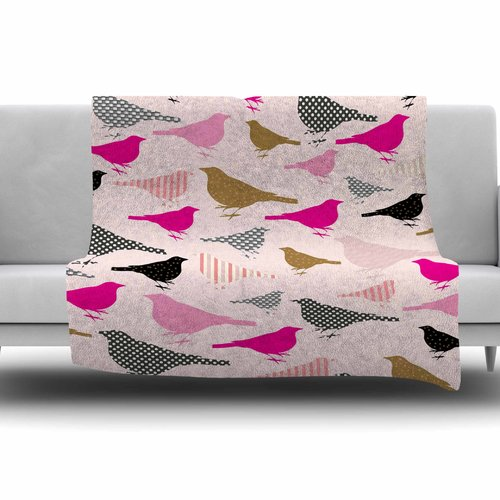 East Urban Home Chirp by Suzanne Carter Fleece Blanket