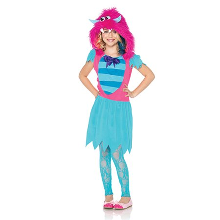 Girls Growling Gabby Monster Halloween Kids Costume](Tiny Monsters Halloween Quest)