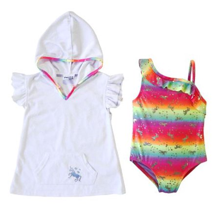 7be9dc6f08702 Freestyle Revolution - Unicorn One-Shoulder Swimsuit and Terry Cover Up, 2- Piece Set (Toddler and Infant Girls) - Walmart.com