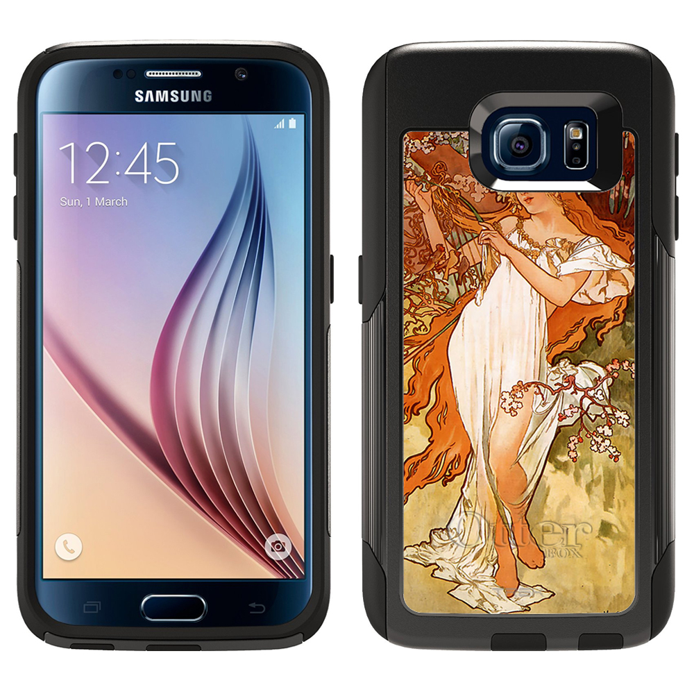 SKIN DECAL FOR Otterbox Commuter Samsung Galaxy S6 Case - Alfons Mucha Spring DECAL, NOT A CASE