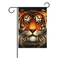 POPCreation Popular Tiger Face Garden Flag Summer Ocean Sea Sunset 12x18 inches Outdoor Flag Home Party