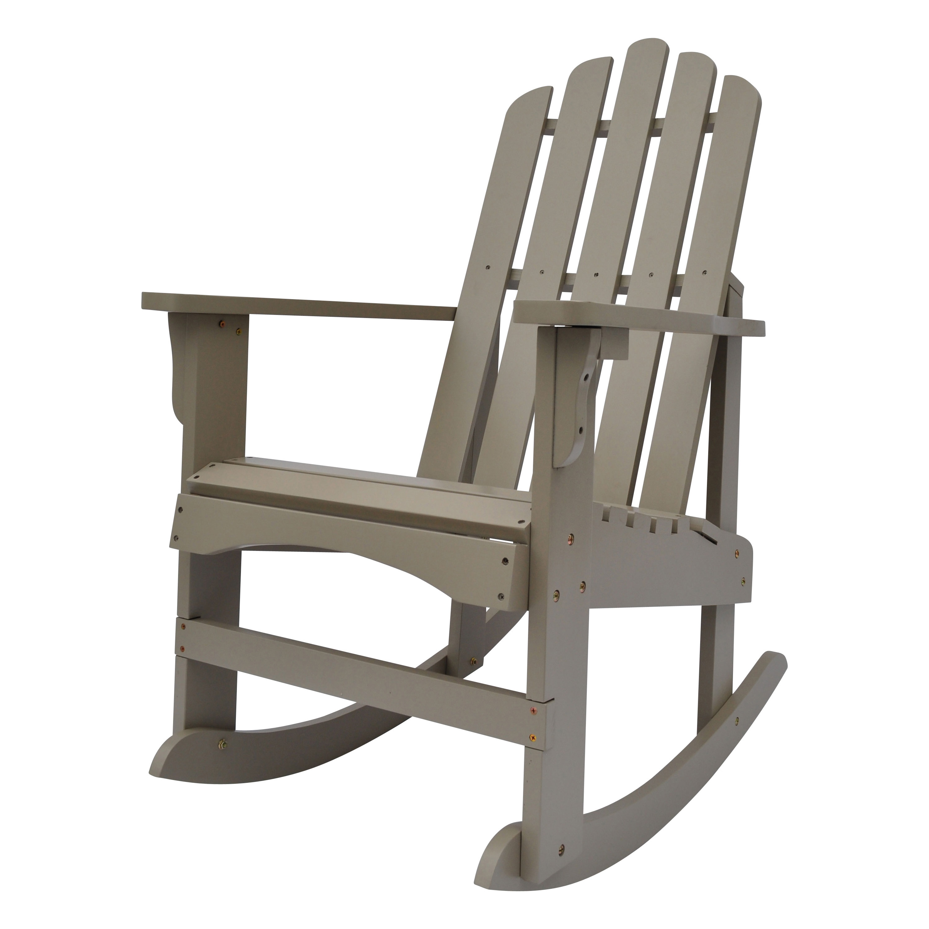 Shine Company Marina Porch Rocker - Taupe Gray