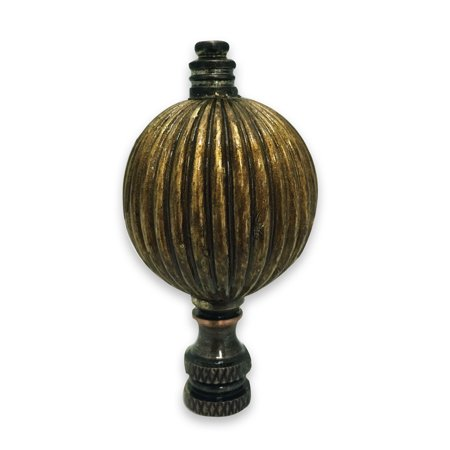 Royal Designs Balloon Shaped Lamp Finial for Lamp Shade- Antique Brass (Balloons Shapes)