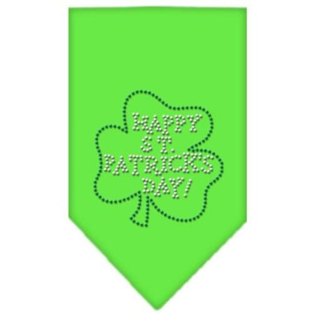 Happy St. Patricks Day Rhinestone Bandana, Large, Lime Green Ship from US..., By Mirage Pet Products