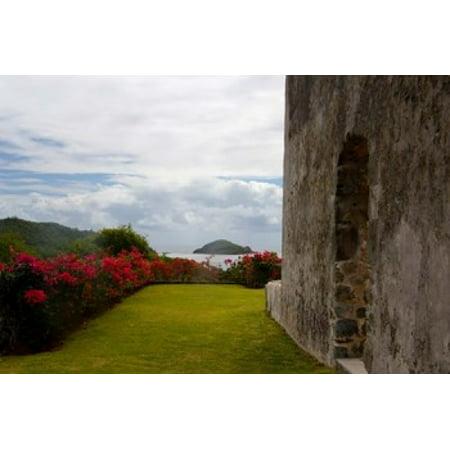 Ruins At Chateau Dubuc Caravelle Peninsula Martinique French Antilles West Indies Canvas Art   Scott T Smith  Danitadelimont  26 X 18