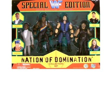 Special Edition Nation of Domination Action Figure Multi-Pack, 4 pack! By WWF Destruction Special Edition Pack