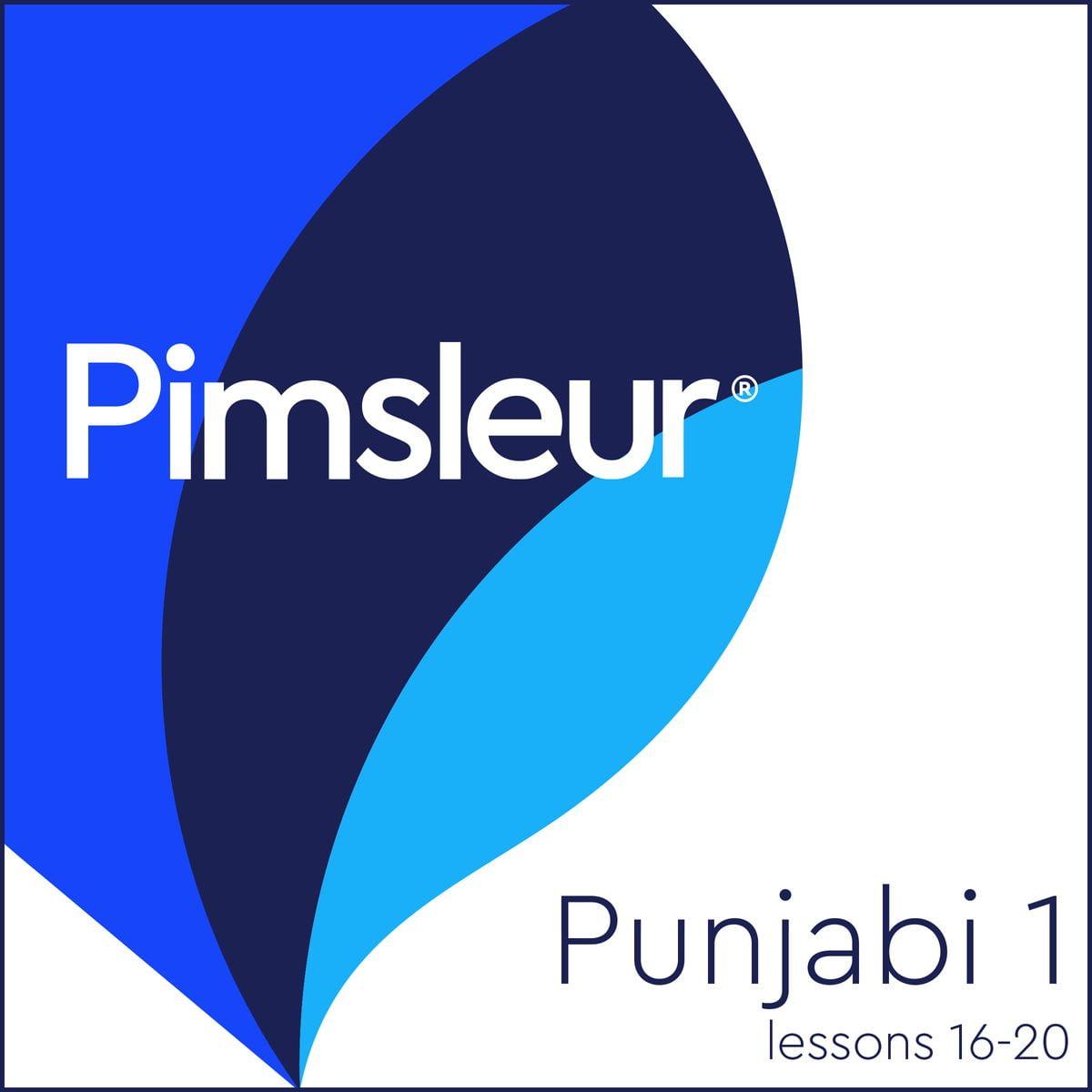Pimsleur Punjabi Level 1 Lessons 16-20 - Audiobook