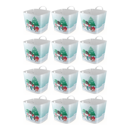 Life Story 6.6 Gallon Versatile Snowman Tub with Dual Grip Handles (12 Pack)