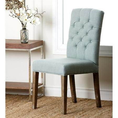Marvelous Abbyson Princeton Tufted Fabric Dining Chair In Blue Inzonedesignstudio Interior Chair Design Inzonedesignstudiocom