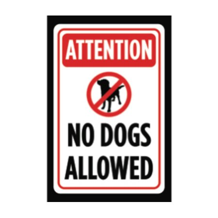 Aluminum Metal Dogs Contained By Invisible Fence Print Yellow Black Poster Symbol Picture Outside Outdoor Yard Notice Aluminum Dog Fence