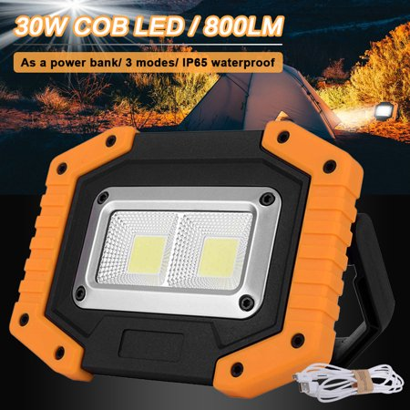 2 Pack LED Flood Light ,Rechargeable IP65 Outdoor Security Garden Landscape Spot Lamp Yard Spotlight, 30W 800LM - image 7 of 10