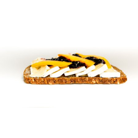 Canvas Print Cheese Camembert Mango Bread Brie Sandwich Stretched Canvas 10 x 14
